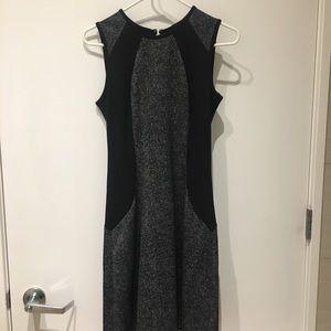 Michael Kors Black and Gray Knee Length Dress